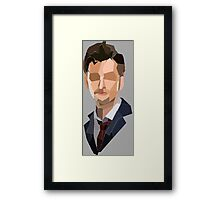 10th Doctor Polygons Framed Print
