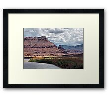 Fisher Towers and the Colorado River Framed Print