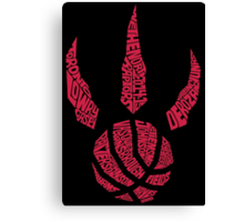 Toronto Raptors RED Canvas Print