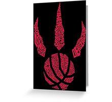 Toronto Raptors RED Greeting Card