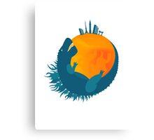 Godzilla Firefox Canvas Print