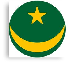 Roundel of the Mauritanian Air Force Canvas Print