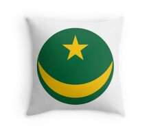 Roundel of the Mauritanian Air Force Throw Pillow