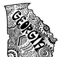 Georgia State Zentangle by alexavec