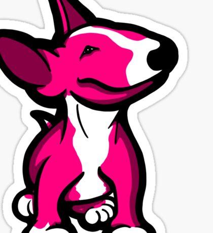 English Bull Terrier Pup Pink Sticker