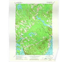Maine USGS Historical Map Lincolnville 806856 1960 24000 Poster