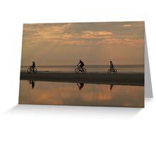 Bicycling at Dawn, Hunting Island Greeting Card