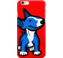 English Bull Terrier Pup Blue  iPhone Case/Skin