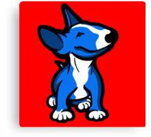 English Bull Terrier Pup Blue  Canvas Print