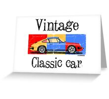 Vintage classic car Greeting Card