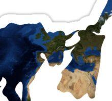 """Until Tomorrow"" Earth Picasso Bull Fighter Sticker"
