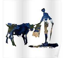 """""""Until Tomorrow"""" Earth Picasso Bull Fighter Poster"""