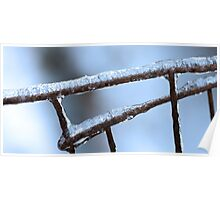 Winter Wire Fence Poster