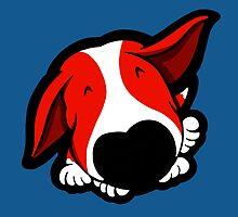 Big Nose Bull Terrier Red by Sookiesooker
