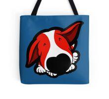 Big Nose Bull Terrier Red Tote Bag