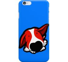 Big Nose Bull Terrier Red iPhone Case/Skin