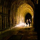 Cloisters, Gloucester Cathedral by rochelle