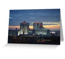 Atlantic City Taj Mahal at Sunset Greeting Card