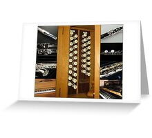 Keyboard and Woodwind Music Collage Greeting Card