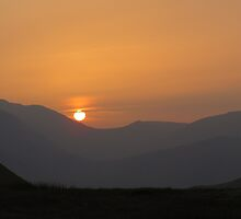 Sunset Over The Western Fells - Lake District by Rod Unwin