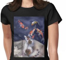 Calico by Pool Womens Fitted T-Shirt