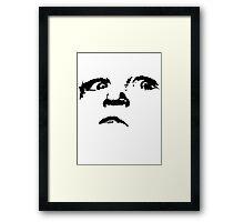 an evil child Framed Print