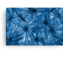 Dandelion Blues Abstract Canvas Print