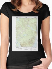 Maine USGS Historical Map Lincolnville 20110906 TM Women's Fitted Scoop T-Shirt
