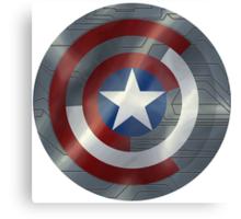 Steve & Bucky Unshielded Turned Shield  Canvas Print