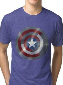 Steve & Bucky Unshielded Turned Shield  Tri-blend T-Shirt