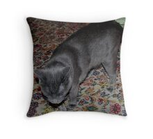 Wooly, Caught in his own Trap! Throw Pillow