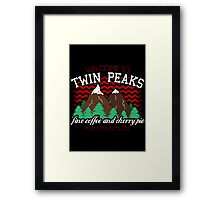 Welcome to Twin Peaks Framed Print