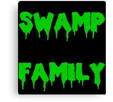 Swamp Family Canvas Print