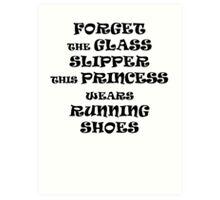 This Princess Wears Running Shoes Art Print