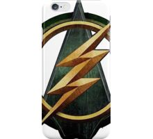 CW Arrow and The Flash Crossover Symbol Shirt iPhone Case/Skin