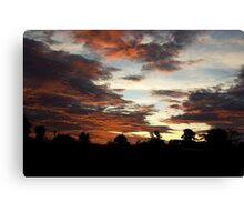 Tropical Twilight - Orange Belly Blanketed Cloudscape  Canvas Print