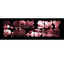 Dark Sky Paradise - Red Storm Photographic Print