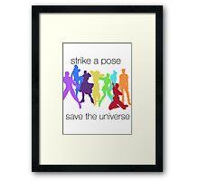 JJBA- Strike a Pose, Save the UNIVERSE!!! Framed Print