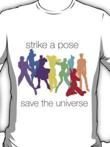 JJBA- Strike a Pose, Save the UNIVERSE!!! T-Shirt