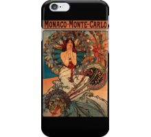 'Monaco' by Alphonse Mucha (Reproduction) iPhone Case/Skin