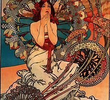 'Monaco' by Alphonse Mucha (Reproduction) by Roz Abellera Art