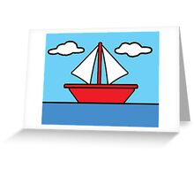 The Simpsons Sailboat Greeting Card