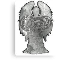 Weeping Angel Design with Circular Gallifreyan Canvas Print