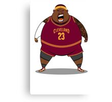 FATTTY Bron in Road Reds Canvas Print