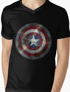 Worn Steve & Bucky Shield Mens V-Neck T-Shirt