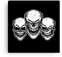 Laughing Skulls Canvas Print