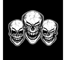 Laughing Skulls Photographic Print