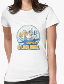 Super Splash Bros  Womens Fitted T-Shirt