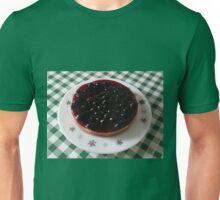 Blackcurrant Cheesecake on Retro Pyrex Plate Unisex T-Shirt