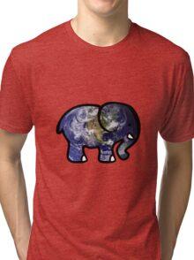 Trippy Elephant Earth Tri-blend T-Shirt